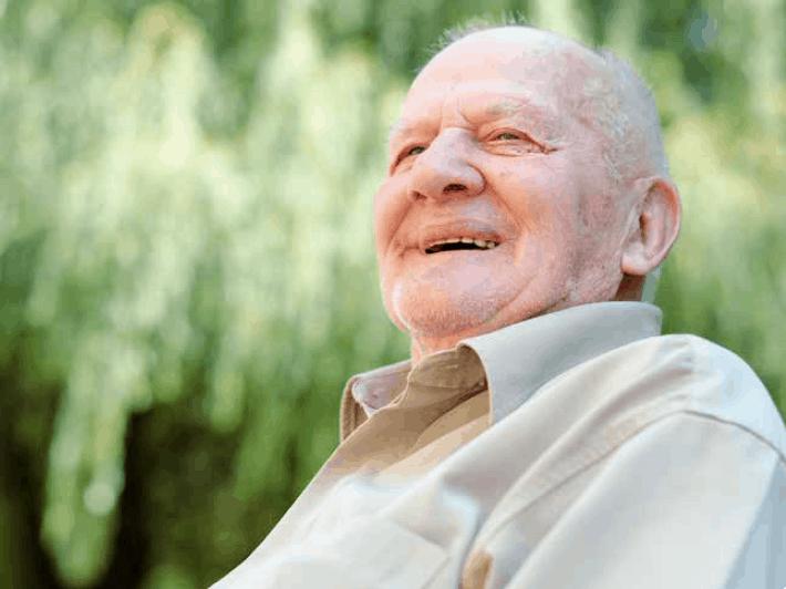 Hopeful Elderly Man